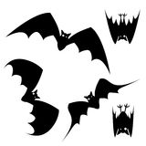 Halloween bat. Clip art illustration isolated on a white background. Can be placed on your design or costume Royalty Free Stock Image