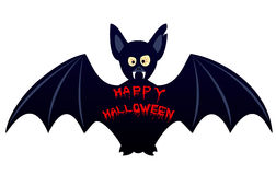 Halloween bat. Isolated on white Royalty Free Stock Photography