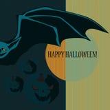 Halloween with bat Stock Photos
