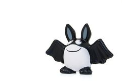 Halloween bat. Halloween funny bat, huge smile.Isolated item Royalty Free Stock Photography