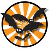 Halloween Bat Background. An illustration of flying bats Royalty Free Stock Photography