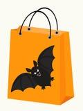 Halloween bat bag Stock Image