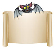 Halloween Bat Banner Stock Images