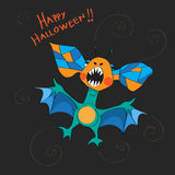 Halloween bat card Stock Photography