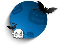Halloween Bat Circle Frame Pumpkin Background Royalty Free Stock Photography