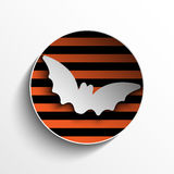 Halloween Bat Circle Frame Pumpkin Button Royalty Free Stock Images