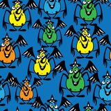 Halloween bat colored seamless pattern Stock Image