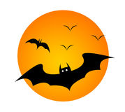 Halloween. Bat figure drawing and illustration Royalty Free Stock Photos