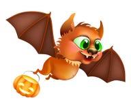 Halloween bat flying Stock Images