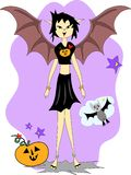 Halloween Bat Girl Mix Stock Photography