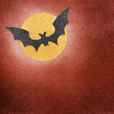 Halloween bat and moon recycled papercraft Royalty Free Stock Photography