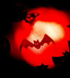 Halloween bat party trick or treat. Halloween ghost bay flying children's party trick or treat surreal, ghostly scary photo of frightening ghosts at night Stock Photos