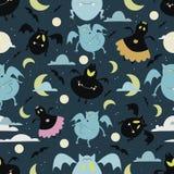 Halloween bat pattern 01 Stock Image