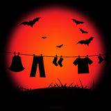 Halloween Bat Represents Trick Or Treat And Abstract Royalty Free Stock Images