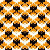 Halloween bat seamless. Vector background Royalty Free Stock Images