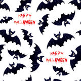 Halloween bat - seamless background Royalty Free Stock Images