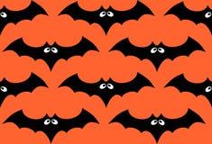 Halloween bat seamless pattern Stock Photo