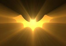 Halloween bat sign light flare stock illustration
