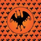 Halloween bat silhouette Stock Images