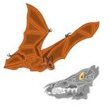 Halloween bat and skull vector Stock Image
