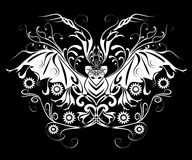 Halloween Bat Tatoo. Ornamental Bat Tatoo for Halloween Stock Photos