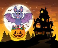 Halloween bat theme image 4 Royalty Free Illustration