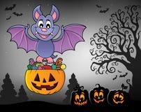 Halloween bat theme image 7 Stock Photography