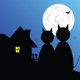 Halloween with bat vector illustration Stock Photos