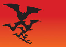 Halloween bats. Picture can be used about halloween party Stock Illustration