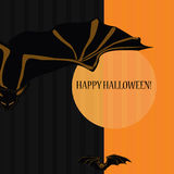 Halloween with bats Royalty Free Stock Images