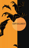 Halloween with bats Royalty Free Stock Image