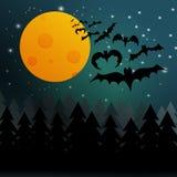 Halloween bats background Royalty Free Stock Photos