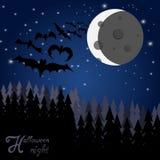 Halloween bats background Stock Image