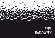 Halloween bats background, vector Stock Images