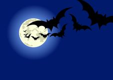 Halloween bats flyer Stock Images