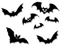Halloween bats flying royalty free stock photos