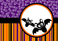 Halloween Bats Greeting Card Stock Photos