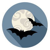 Halloween Bats Icon Means Trick Or Treat And Animal Stock Photos