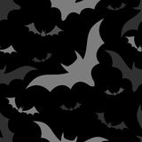 Halloween bats seamless pattern Stock Image