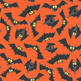Halloween bats seamless pattern Stock Photography