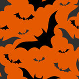 Halloween bats seamless pattern Stock Photo