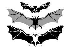 Halloween bats, vector Stock Images