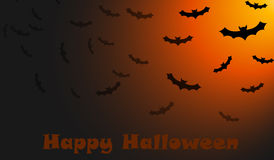 Halloween bats wish Stock Photos