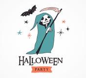 Halloween bawi się, wręcza, patroszone nowożytne karty ustawiać Obraz Royalty Free