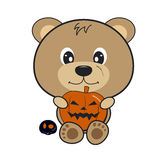 Halloween bear design Stock Image