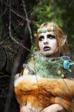 Halloween beautiful girl gnome. Royalty Free Stock Photo