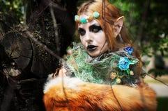 Halloween beautiful girl gnome. Stock Photos
