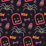 Halloween beautiful patterns with elements. Vector Royalty Free Stock Photos
