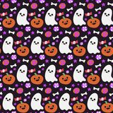 Halloween beautiful patterns with elements. Vector Royalty Free Stock Images