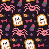 Halloween beautiful patterns with elements. Vector Royalty Free Stock Image